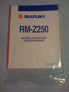 2007 Suzuki RMZ 250 Manuel du Proprietaire, French Owners Manual