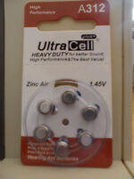 HEARING AID BATTERIES A312 BOX OF 60 EXP 03-2018