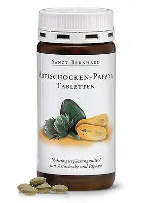 160 Artischocken Papaya Tabletten von Sanct Bernhard (1 Dose), Enzyme