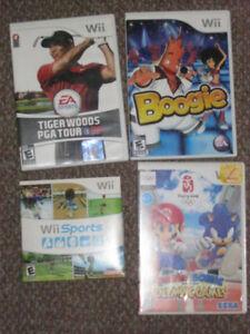 4 Nintendo Wii games