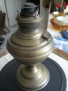 "OLD ANTIQUE BRASS ""The NEW JUNO # 2"" KEROSENE OIL LAMP"