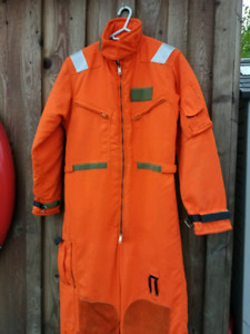Mustang Aviation Survival Floater Suit Coveralls Size Small