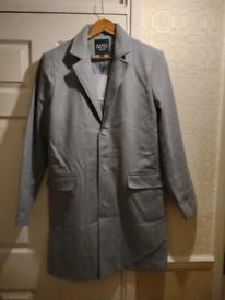 Grey overcoat size XL