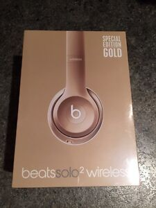 Gold Beats Wireless Headphones