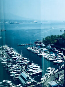 Large one bedroom plus den with harbour view coal harbour