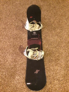 Division 23 snowboard and Burton Freestyle bindings $80
