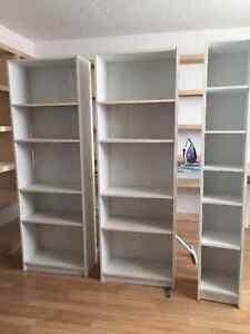 3 gently used bookcases for 20$