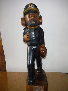 Sculpture en bois Capitaine Haddock (tintin)