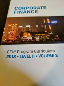 CFA 2018 Levvel II volume 3 (Corporate Finance)