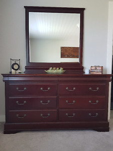 High End Solid Cherry Wood Dresser