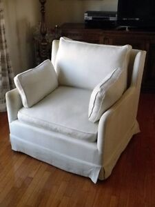 Italian oversized arm chair