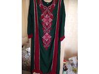 salwaar kameez indian pakistani maxi long sleeved dress mehndi wedding evening kaftan joblot 8-10
