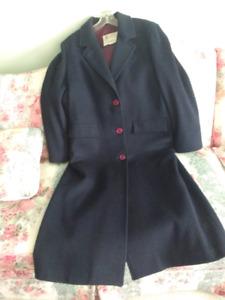 London Fog Navy WOOL Winter Coat, NEW NEVER WORN