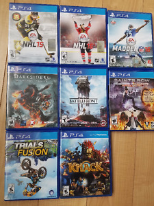 PS4 Games, $10-$15 each