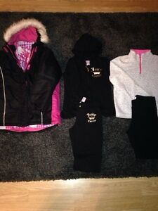 Girls Size 7/8 Winter Coat & Jogging Suits