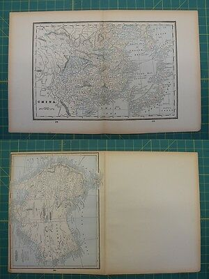China Australia Vintage Original 1893 Columbian World Fair Map Lot