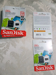 Micro SD cards 128gb - Brand new