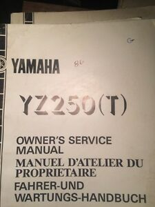 1986 Yamaha YZ250T Owners Service Manual