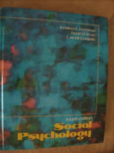 Social Psychology 4th Ed. From early 80s