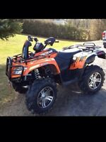 2011 Arctic cat mudpro 700 with snowplough and windshield