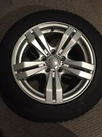 5x114.3 Michelin 205/55/16 aluminum rims, winter tires