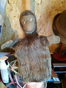 Antique monkey hand puppet