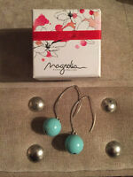 Magnolia 925 silver drop earrings with turquoise stone