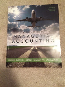 Intro to Managerial Accounting 4th edition Cambridge Kitchener Area image 1
