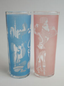 Vintage Genie Glasses, Pink and Blue