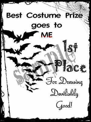 Halloween prize Costume winner 1st 2nd 3rd Certificate A4 A5 Gift Laminated - First Prize Halloween Costumes