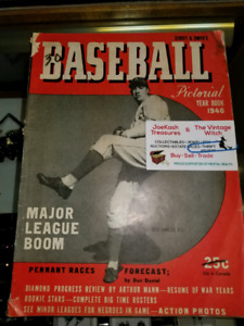 1946 Baseball Yearbook pictorial - hundreds of rare sports  item