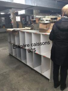 Étagères, table d'imprimante, paravents/séparateurs