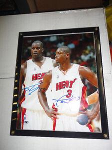 SHAQ & D.WADE NBA SIGNED 8X10 PHOTO MIAMI HEAT