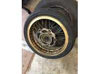 Supermoto wheel with tyre