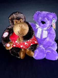 Toy Monkey & Bear : Exc Cond : Clean : Smoke Free : with TAGS