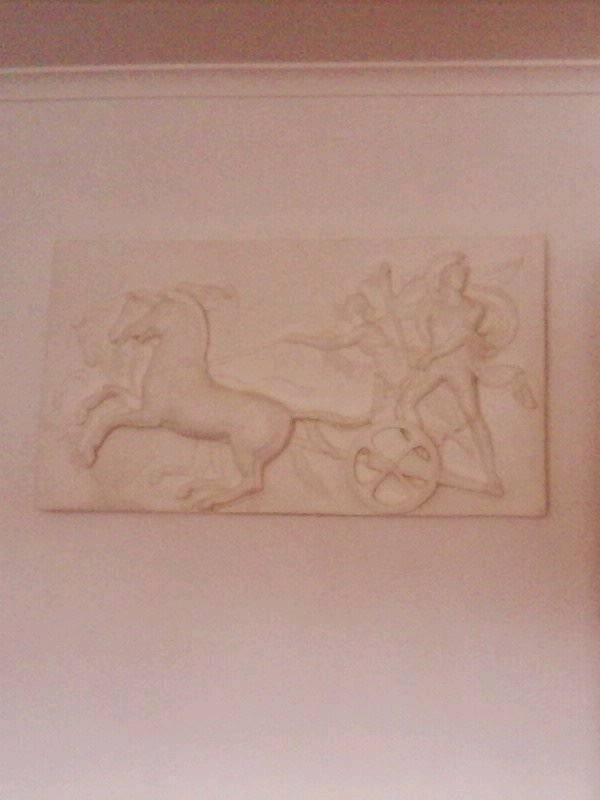 Heavy Greek plaque