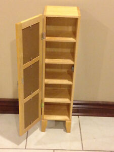 WOOD CD CABINET STORAGE- LIKE NEW (Paid $200) London Ontario image 5