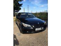 BMW 525i 10 months MOT black petrol auto leather saloon not 520d 520i Idrive automatic