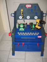 Little Tykes Workbench with Power Tools x 2 and Bob The Builder