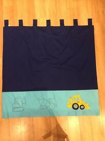 NOW REDUCED!!!!! NEXT Little Diggers lined boys bedroom curtains