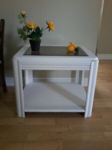wood side table, accent table, sm coffee table
