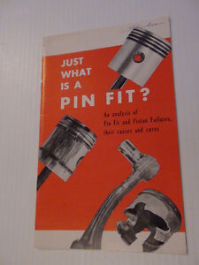 ANCIENNE BROCHURE SUNNEN PISTON  RING ROD 1961 ONTARIO
