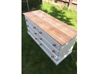 Refurbished Solid Pine Chest of Drawers (Can Deliver)