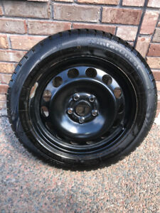 205/55 R16 Winter Tires on Rims - Almost New x 4