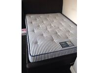 Double leather bed frame plus double matress