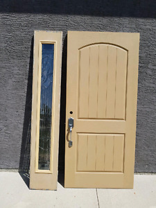 Exterior composite door and side panel