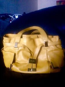 Authentic Michael Kors Mustard Leather shoulder bag Strathcona County Edmonton Area image 1