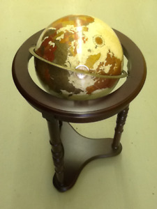 "Replogle 12"" Platinum Classic Series Globe on Wooden Stand"