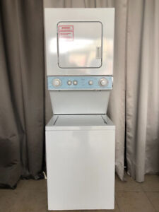 """2yr old 24"""" whirlpool thin twin laundry centre+warranty for sale"""