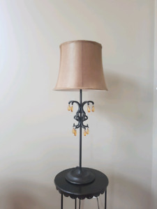 Lamp with jewel accents